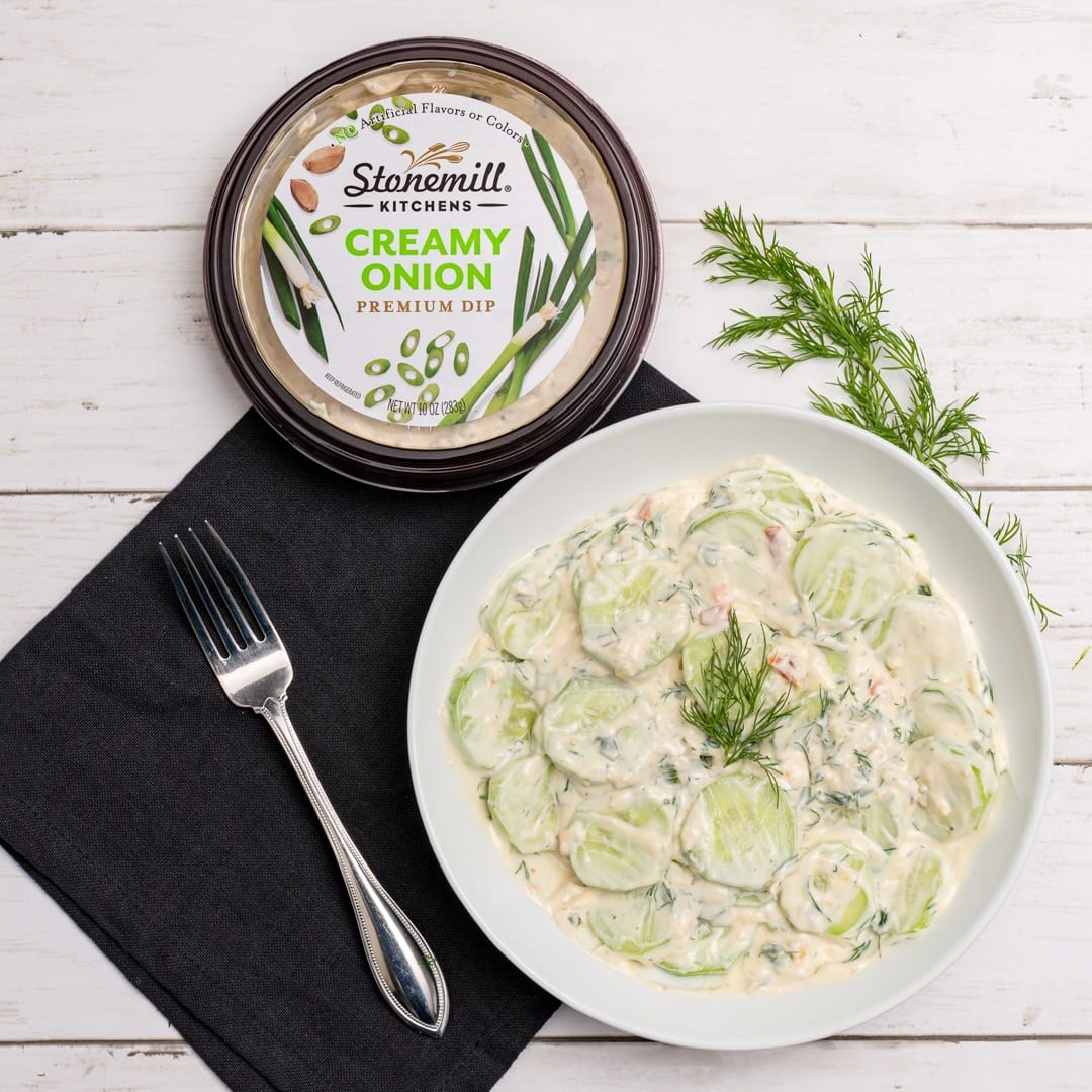Creamy Cucumber with Dill Salad